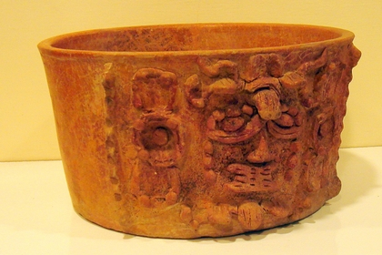 Maya Vessel with Diety Effigy