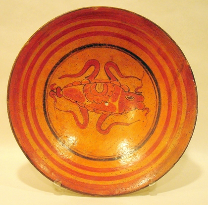 Maya Plate with Painted Flea