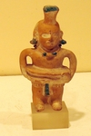 3054 - Mayan/Jaina Figural Whistle Wearing a Yoke